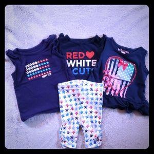 Girls 12-Month Red, White & Blue Bundle